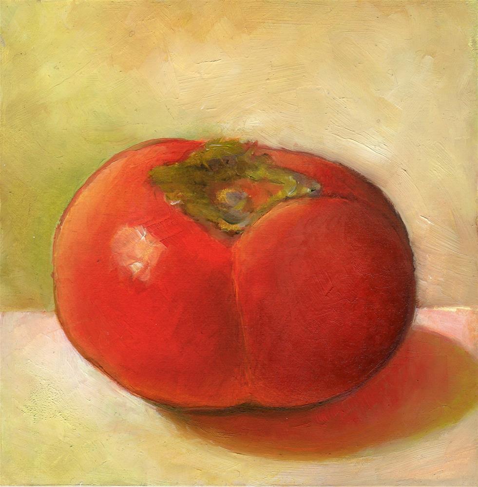 """Persimmon"" original fine art by Anne Ducrot"