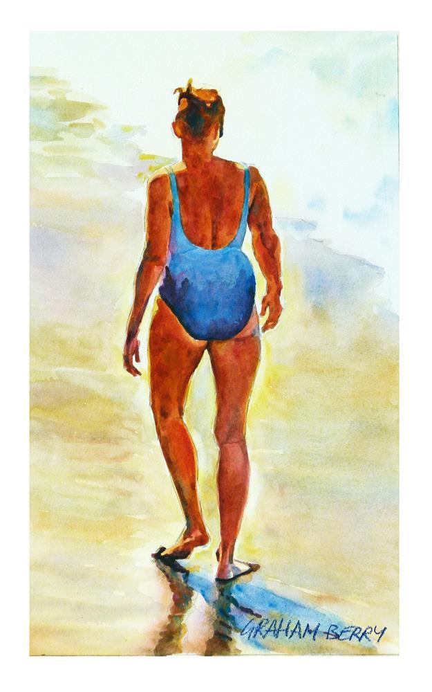 """""""Shoreline walk."""" original fine art by Graham Berry"""