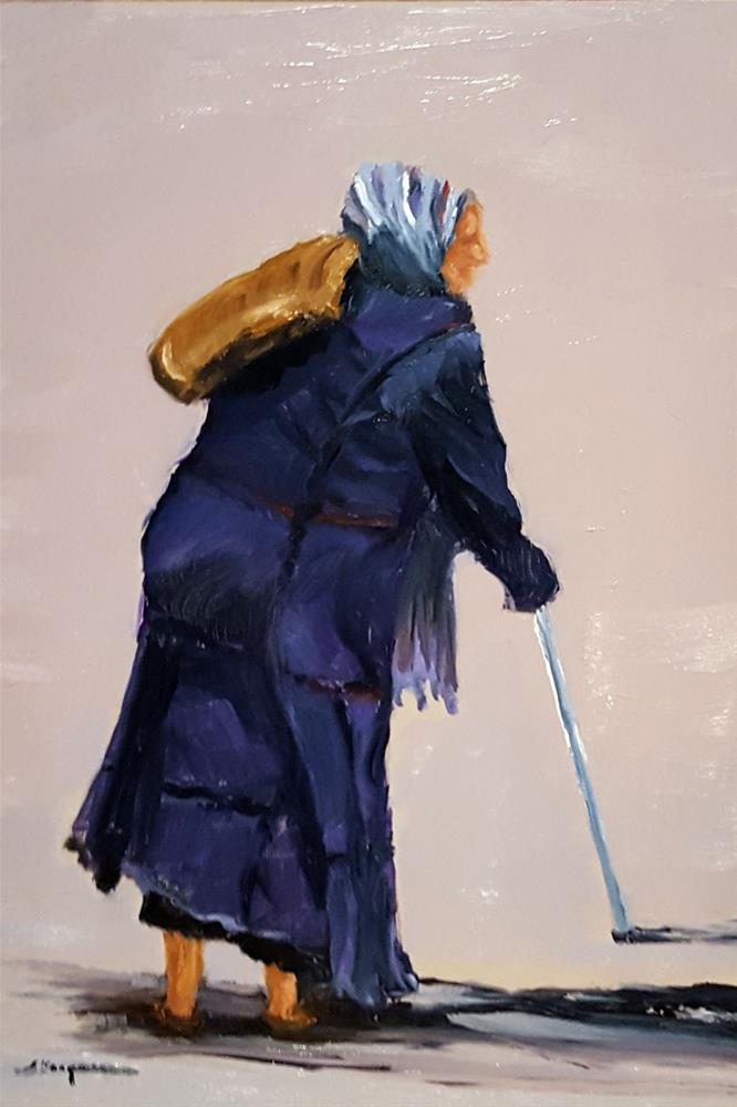 """Woman with a Cane"" original fine art by Shelley Koopmann"