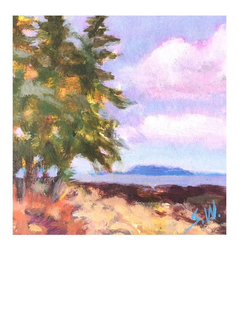"""Purple Sky"" original fine art by Suzanne Woodward"