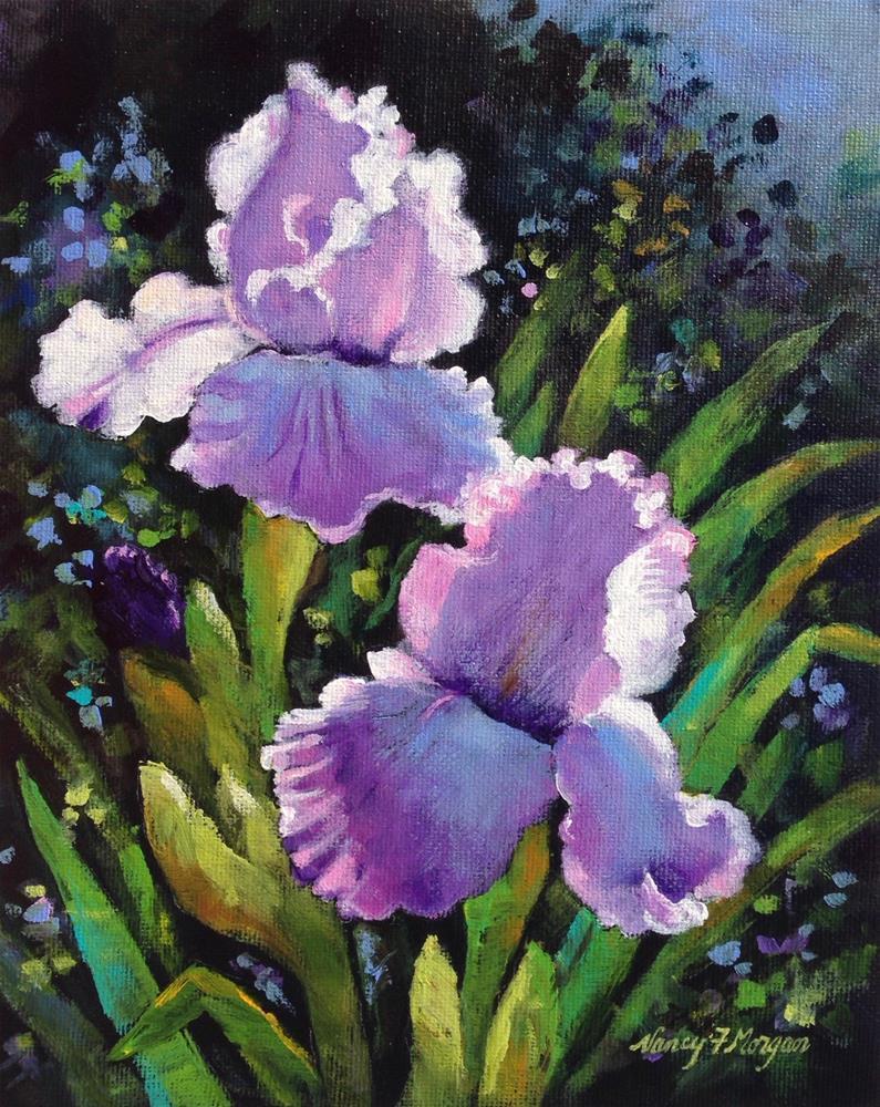 """Lavender Iris"" original fine art by Nancy F. Morgan"