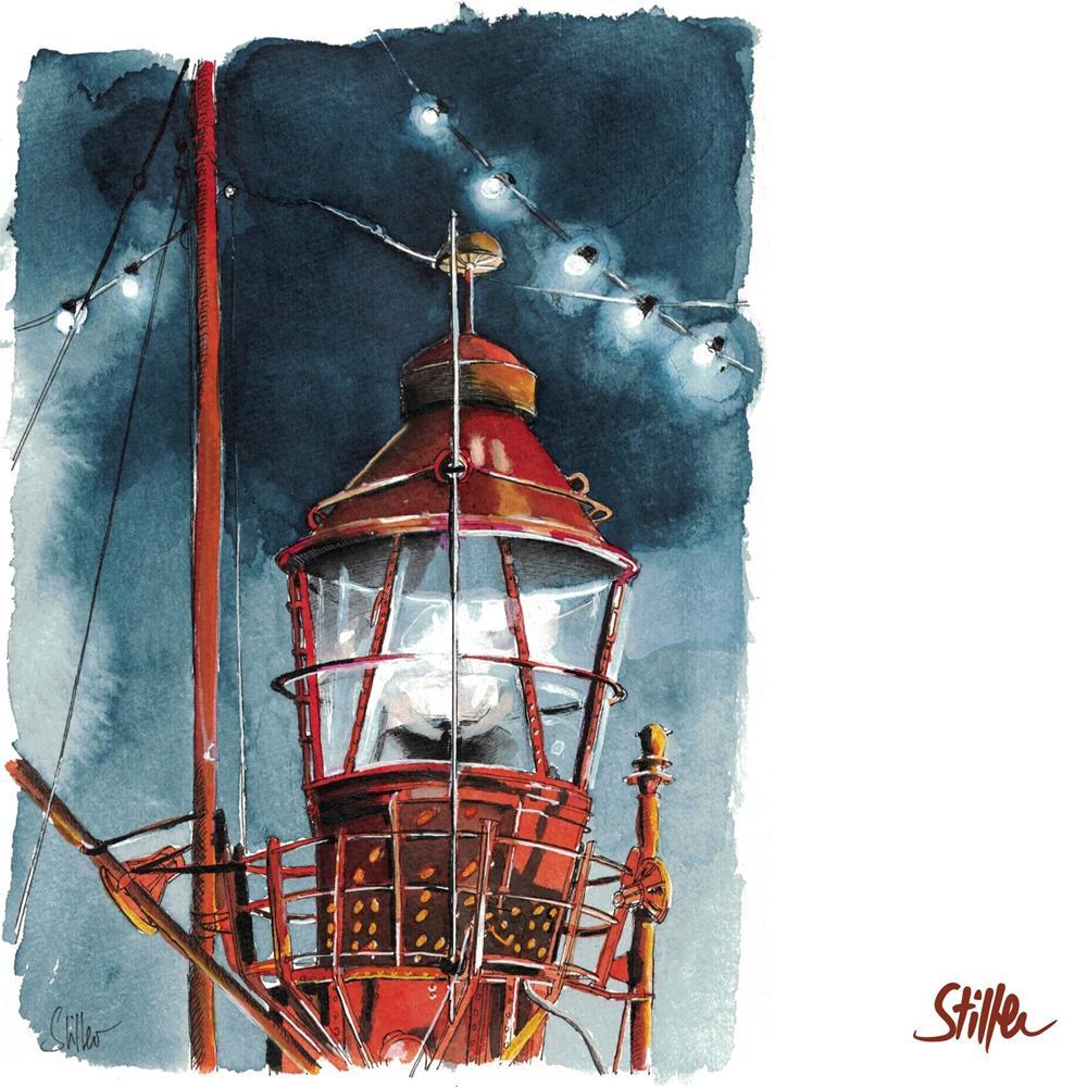 """3432 Beacon"" original fine art by Dietmar Stiller"