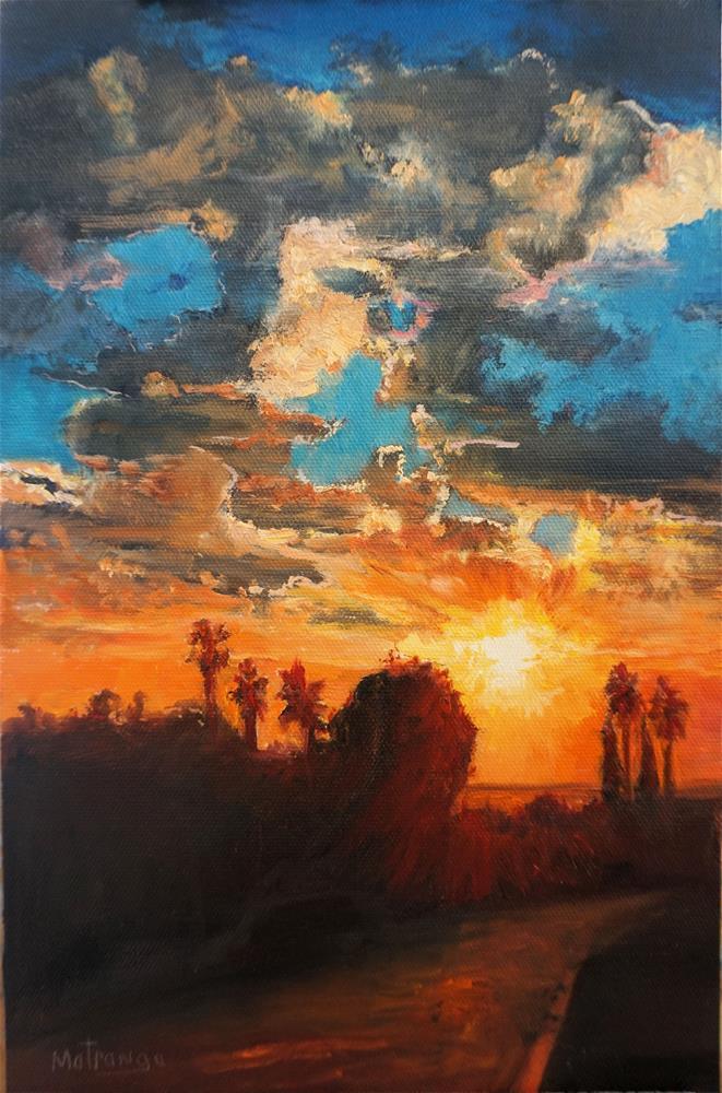 """Sunset Street"" original fine art by Patricia Matranga"