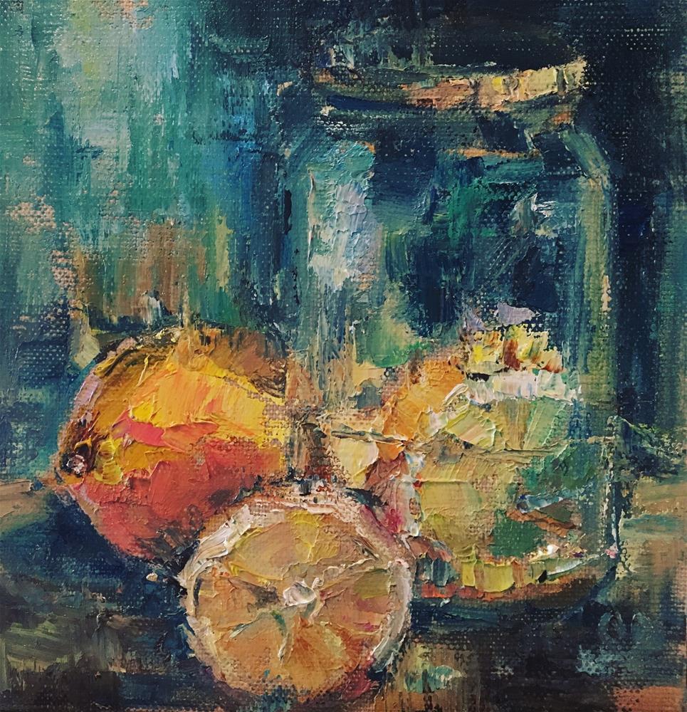 """Making Lemonade out of Lemons"" original fine art by Carol DeMumbrum"