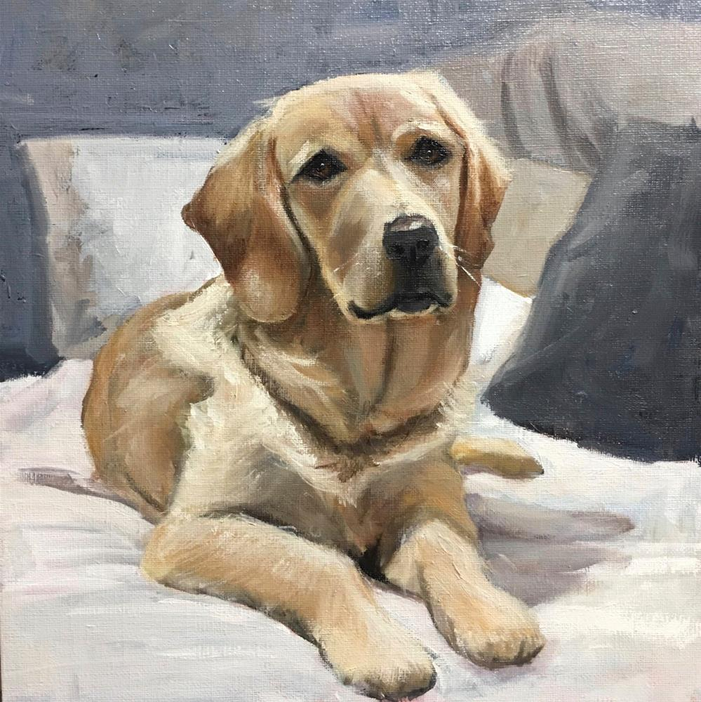 """Dolly - Golden Retriever"" original fine art by Linda Marino"