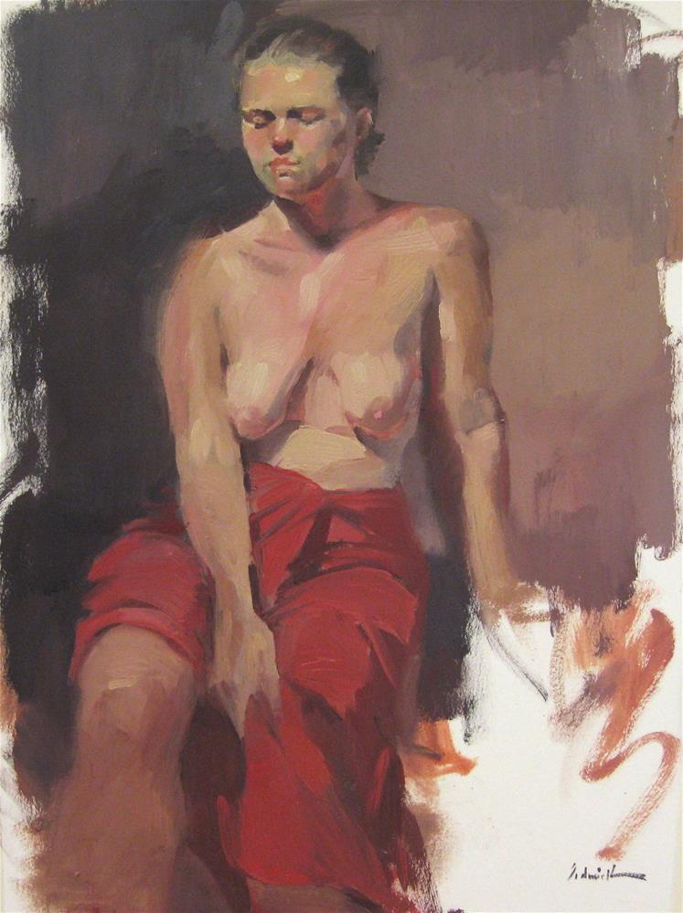 """The Red Wrap"" original fine art by Sarah Sedwick"