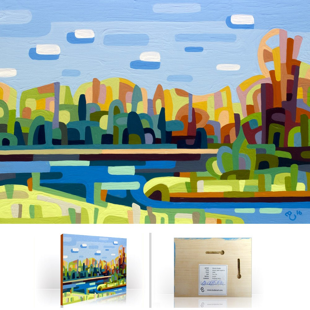 """Landscape Study #100"" original fine art by Mandy Budan"