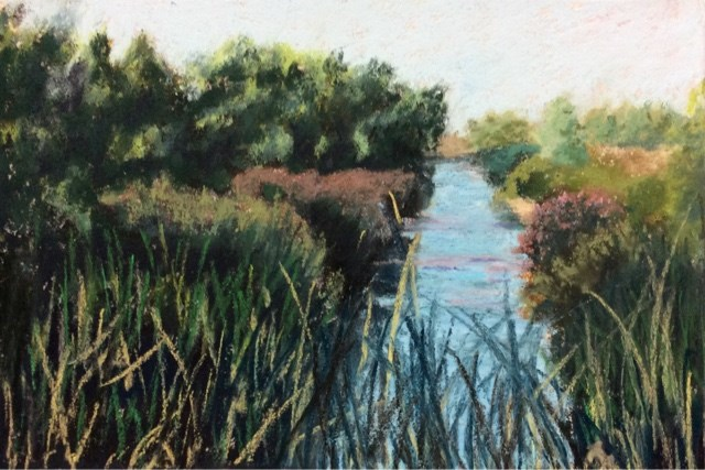 """THE MAIN DRAIN"" original fine art by Marti Walker"