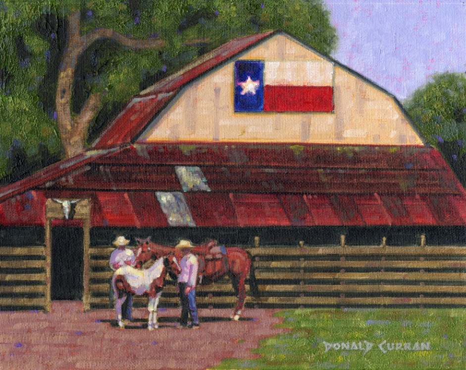 """Texas Ranch"" original fine art by Donald Curran"