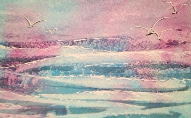 """Waves"" original fine art by Margie Whittington"