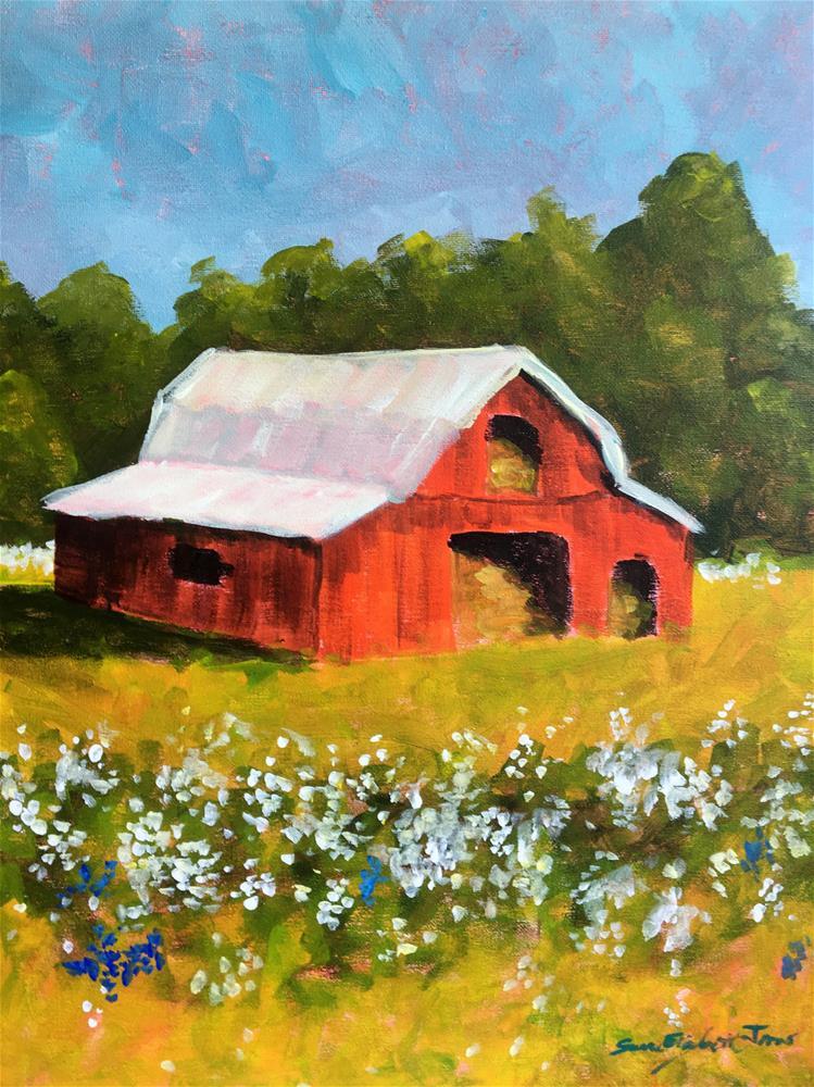 """High Cotton Class Demo 2"" original fine art by Susan Elizabeth Jones"