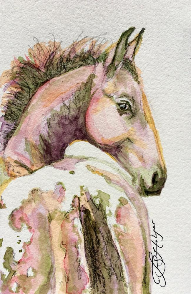 """Pretty Baby"" original fine art by Jen Holyer"