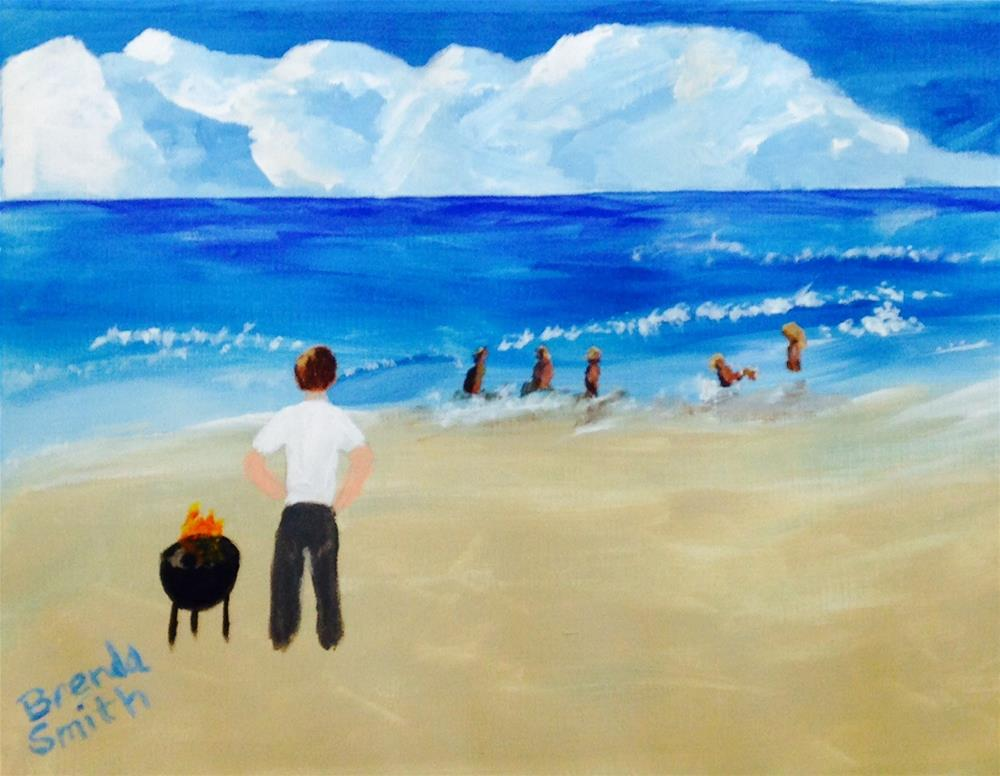 """Beach Memories"" original fine art by Brenda Smith"