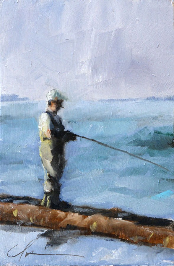 """The Old Man and the Sea"" original fine art by Clair Hartmann"