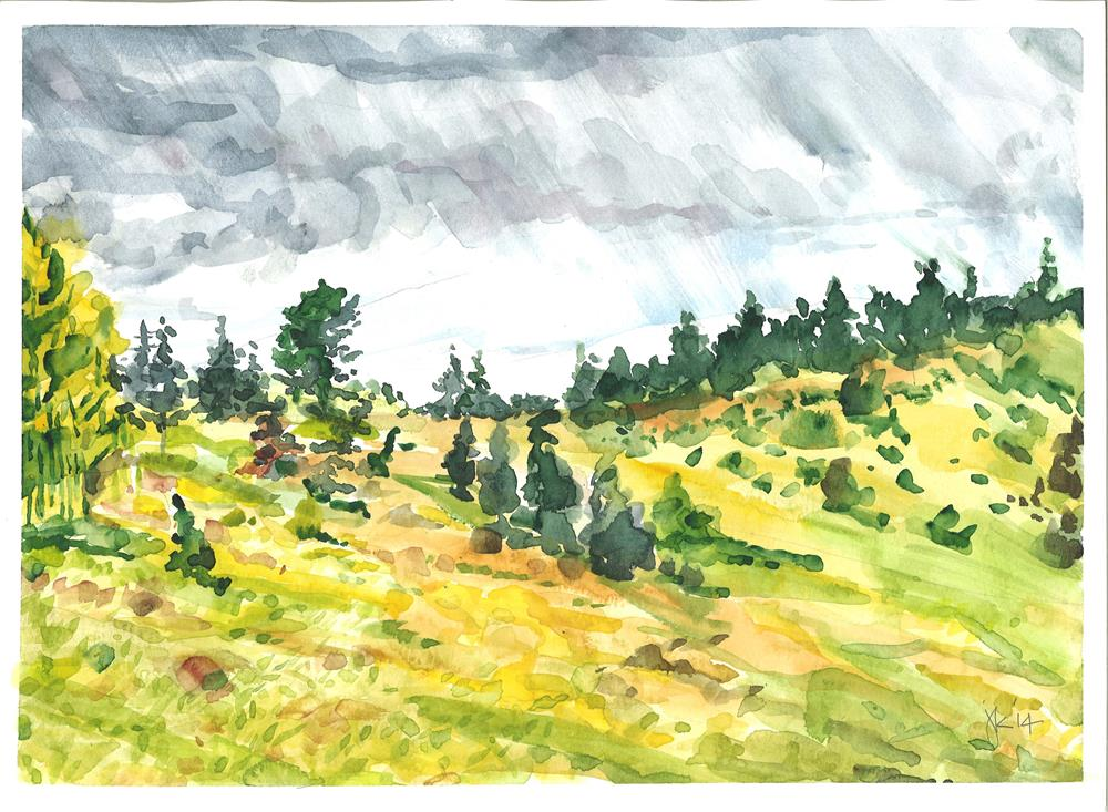 """Rainbow Trail at Horn Peak, CO"" original fine art by Jean Krueger"