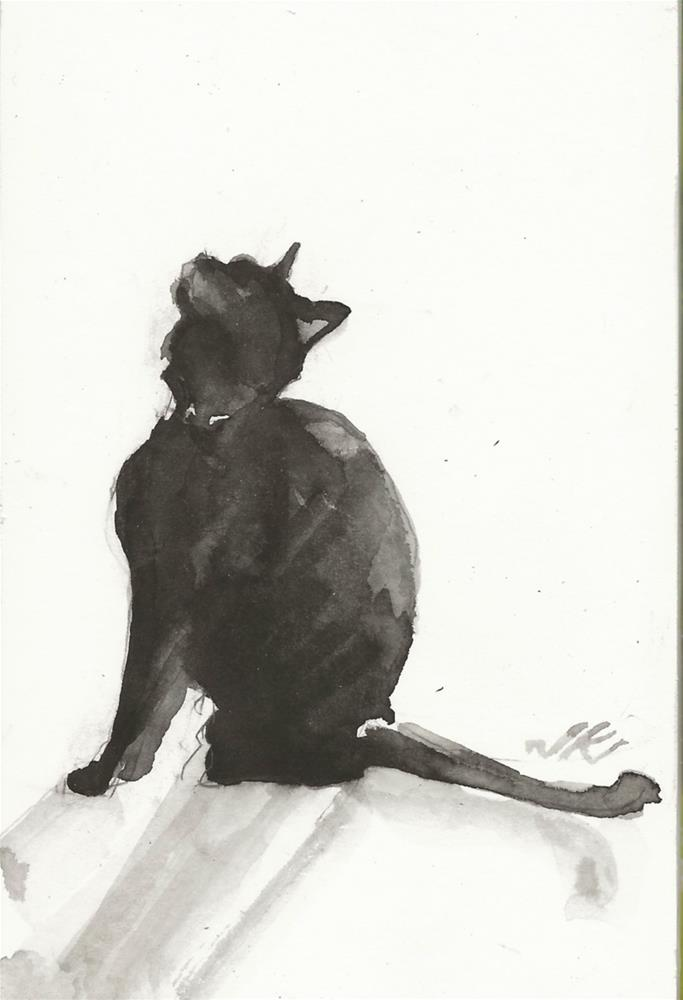 """Daily Cat 95"" original fine art by Jean Krueger"