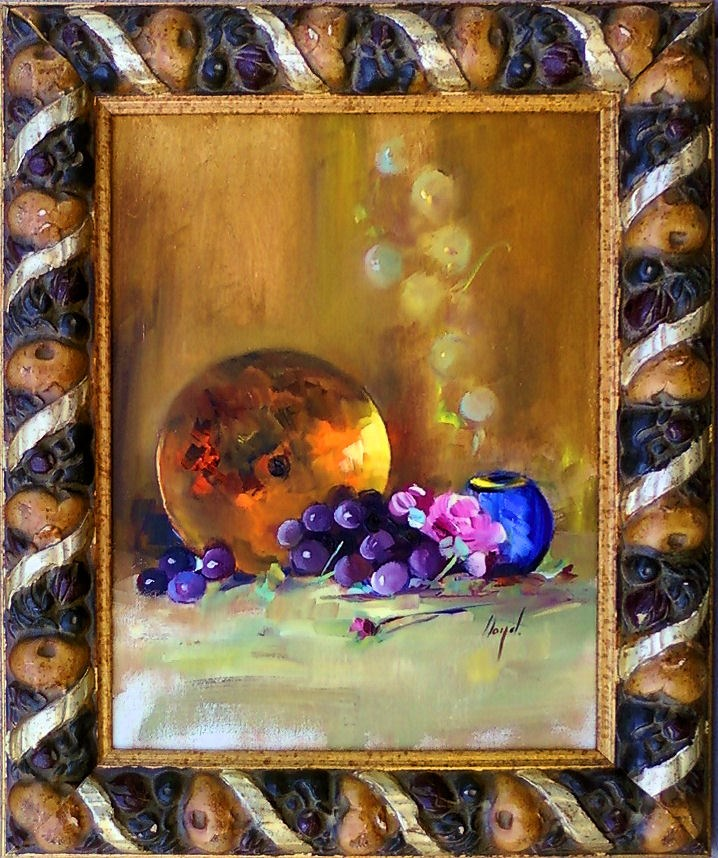 """Brass and Grapes"" original fine art by Diane Lloyd"
