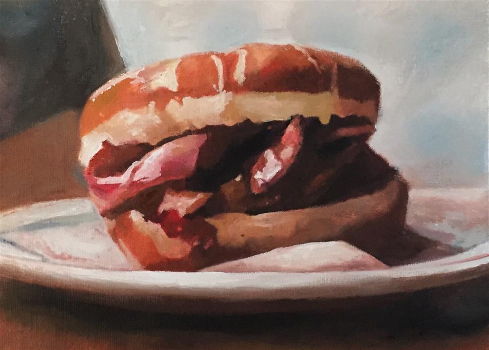 """""""Breakfast II"""" original fine art by John Cameron"""