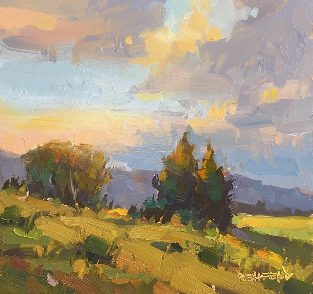 """Sunset Glow"" original fine art by Cathleen Rehfeld"