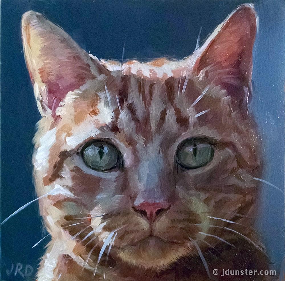 """Shadowed Cat"" original fine art by J. Dunster"