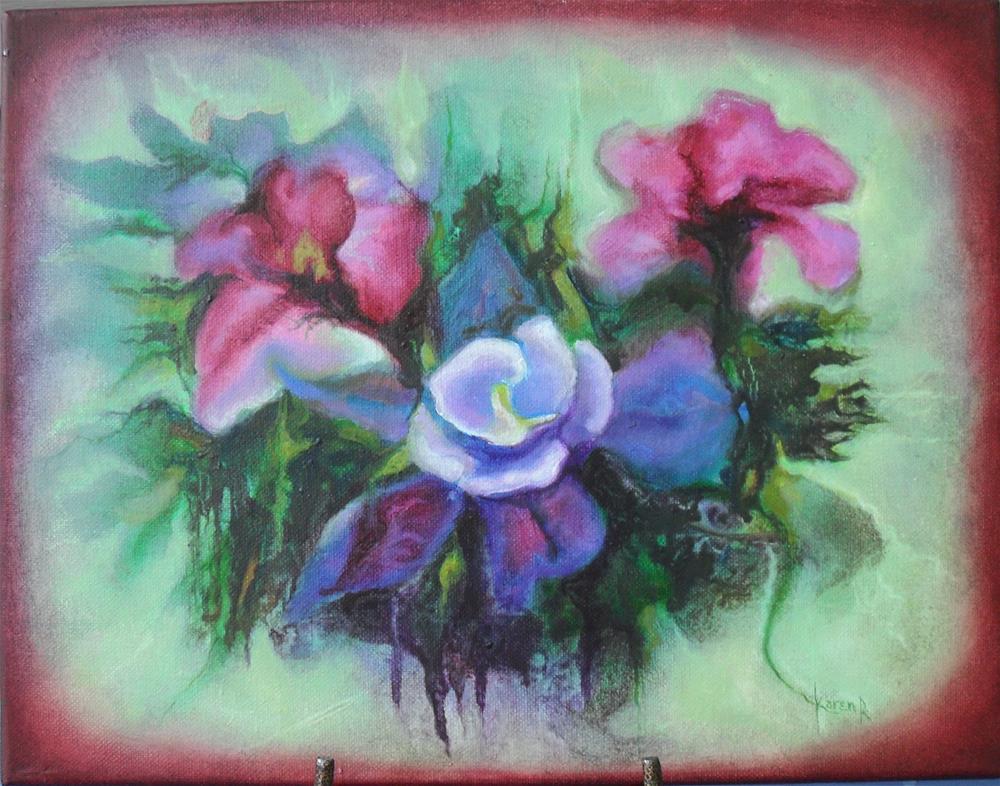"""Bouquet"" original fine art by Karen Roncari"