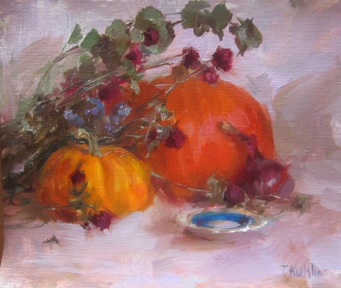 """fall colors"" original fine art by Taisia Kuklina"