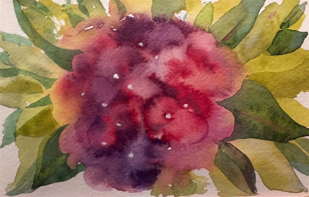 """Hydrangea 2"" original fine art by Natasha Ramras"