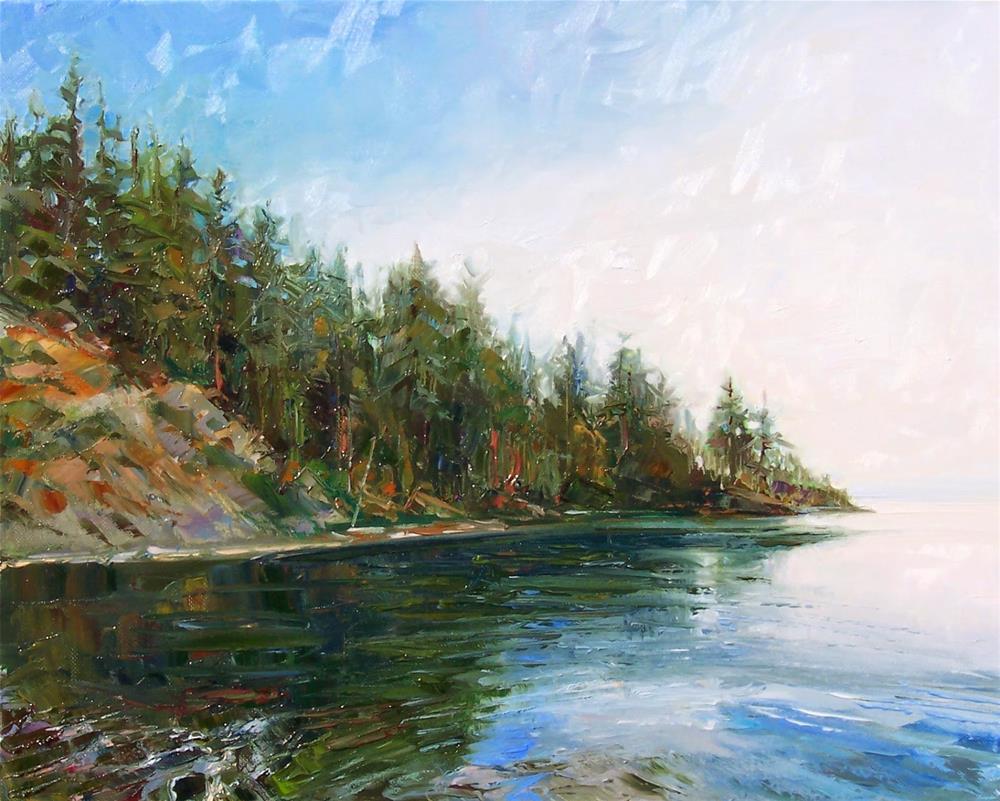 """Boat Launch at Larrabee,Landscape,oil on canvas,16x20,price$995"" original fine art by Joy Olney"