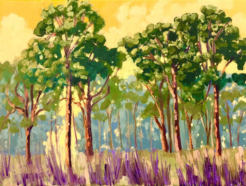 """""""Pine Forest"""" original fine art by Linda Blondheim"""