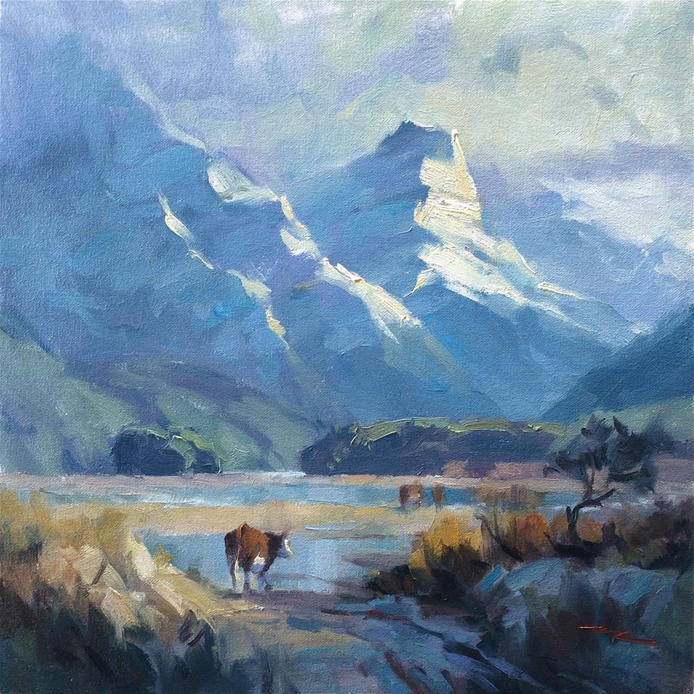 """Into Paradise I"" original fine art by Richard Robinson"