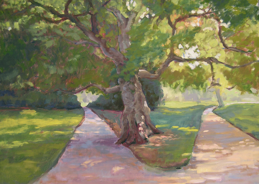 """""""Parc Manceau Paris"""" original fine art by Deborah Newman"""