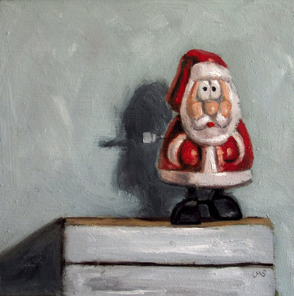 """Advent Calendar No. 6"" original fine art by Ulrike Miesen-Schuermann"