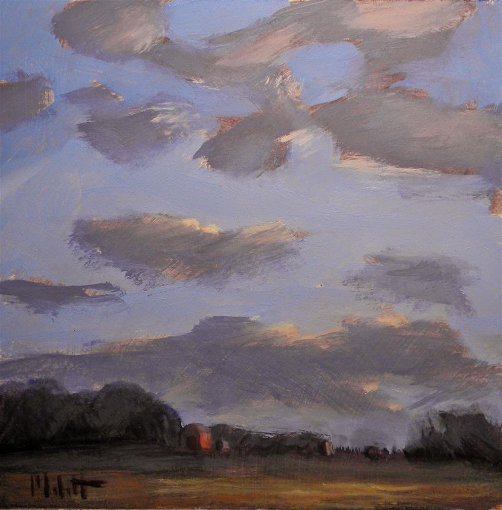 """Rural Landscape Last Light painting"" original fine art by Heidi Malott"
