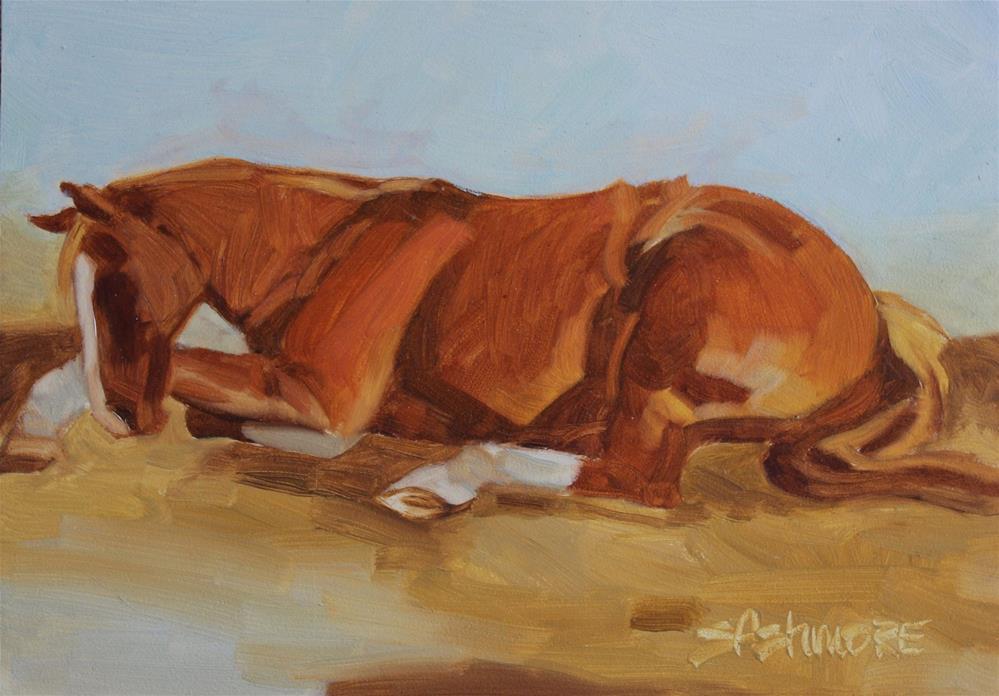 """While she sleeps"" original fine art by Susan Ashmore"