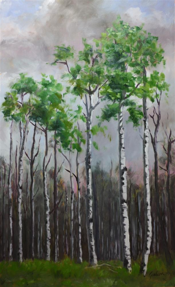 """Aspens"" original fine art by Graham Townsend"