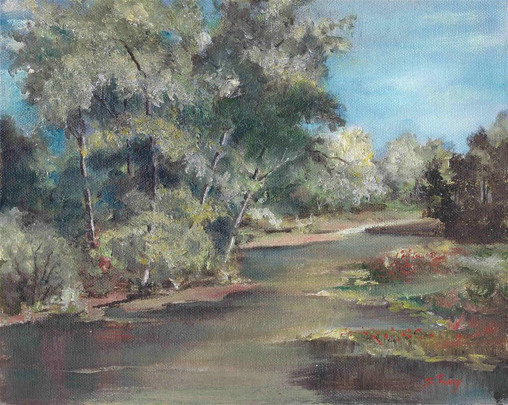 """""""Homer's Lake """" original fine art by R. S. Perry"""