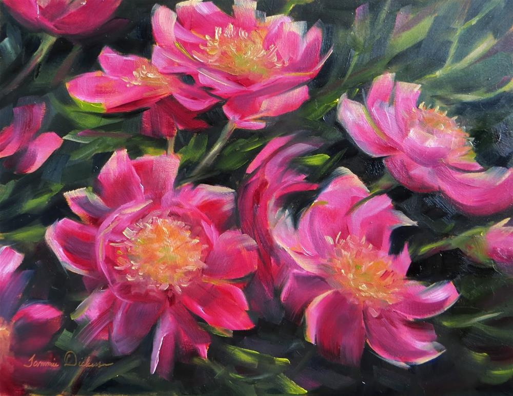 """Pink Peony Passion"" original fine art by Tammie Dickerson"