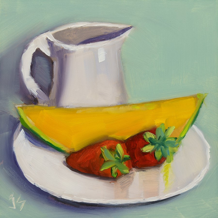 """""""Healthy Breakfast"""" original fine art by Johnna Schelling"""