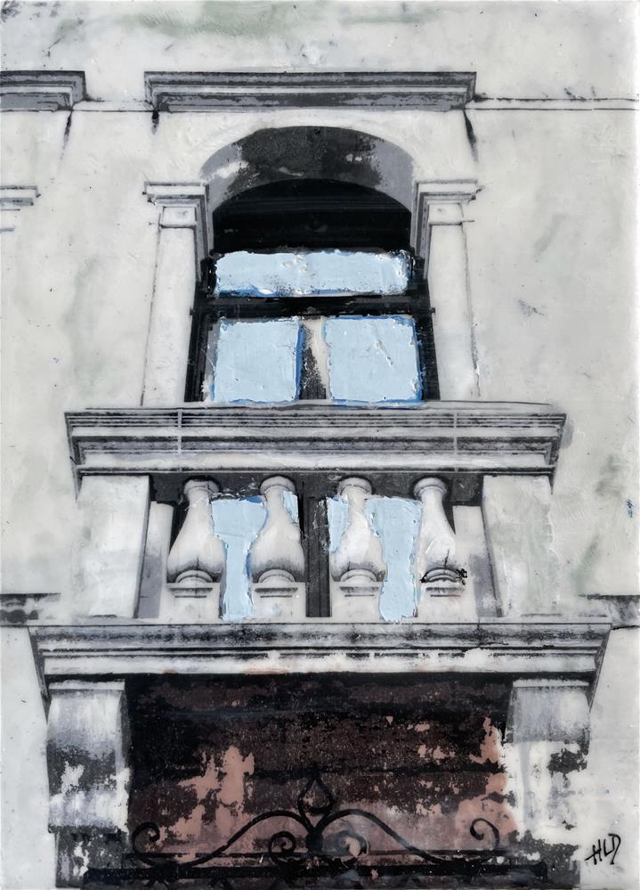 """Balcony In Venice"" original fine art by Heather Douglas"