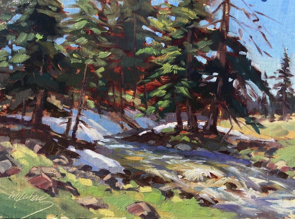 """Spring Runoff"" original fine art by Mary Jabens"