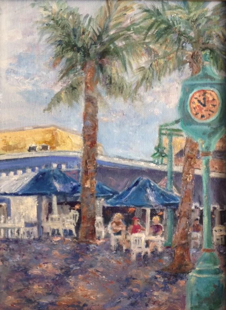 """Plakos at Ft. Myers Beach"" original fine art by Judy Usavage"