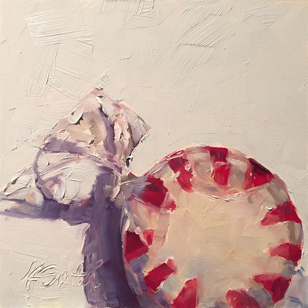 """peppermint candy"" original fine art by Kim Smith"