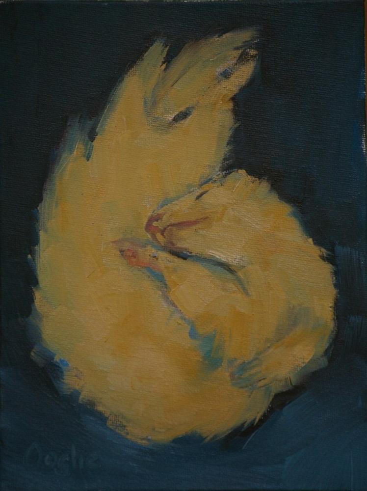"""Sleeping Ferret"" original fine art by Angela Ooghe"