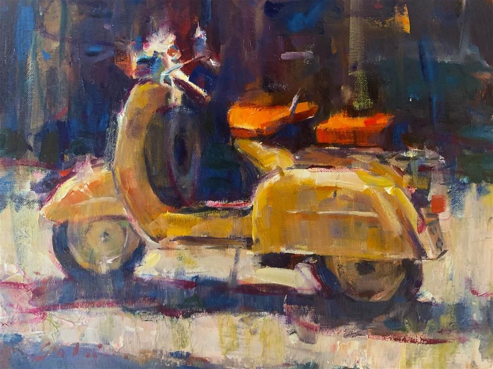 """Vespa Florence Italy"" original fine art by Jerry Salinas"