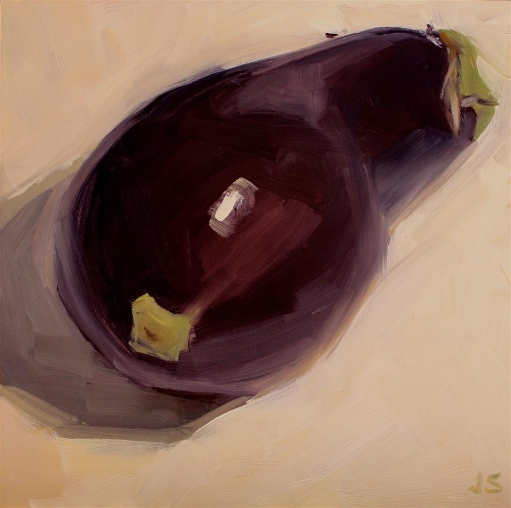 """Purple People Eater"" original fine art by Jamie Stevens"