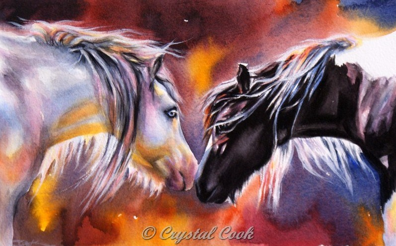 """""""No Words Required"""" original fine art by Crystal Cook"""