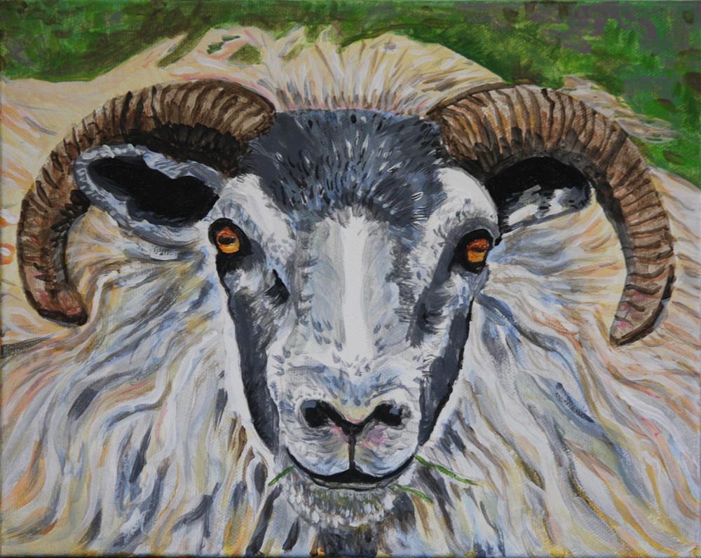 """RamBunctious"" original fine art by Terri-Anne Barge"