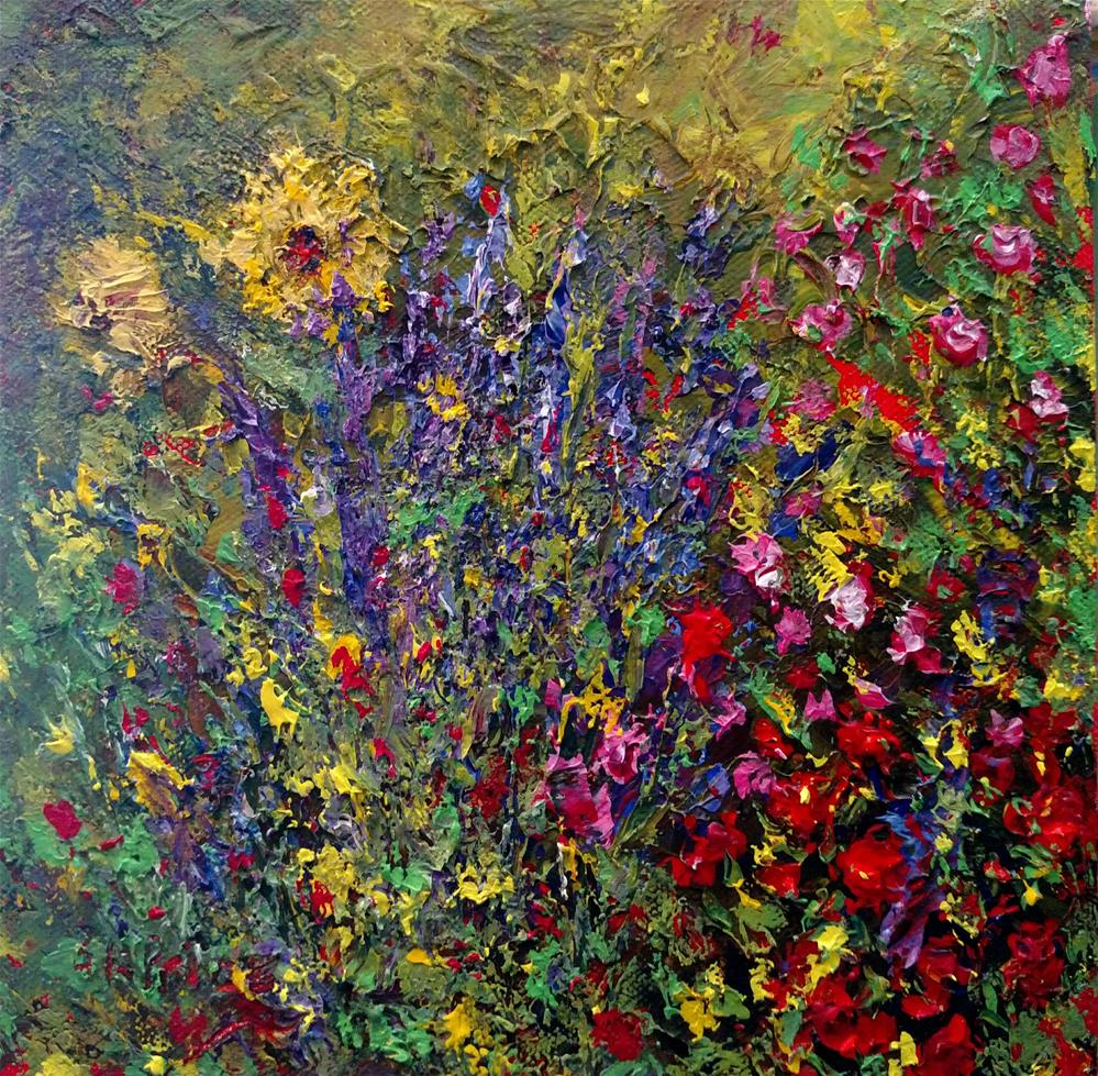 """Denyse's Lavender"" original fine art by S. Lynne Price"