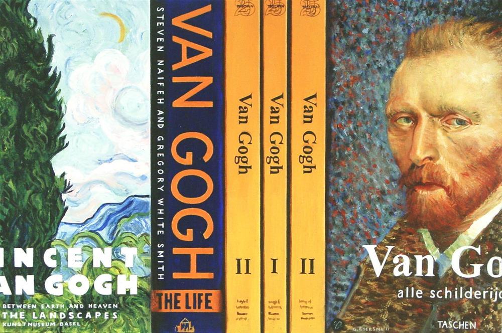 """Van Gogh Books- Still Life Painting Of Books On Vincent Van Gogh"" original fine art by Gerard Boersma"
