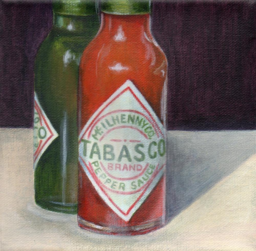 """Pepper Sauce"" original fine art by Debbie Shirley"